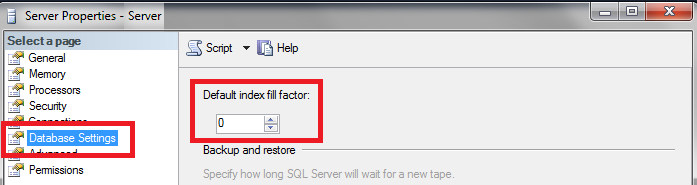 Fill Factor in SQL Server