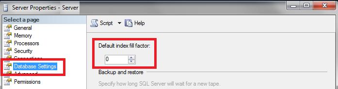 Fill Factor in SQL Server