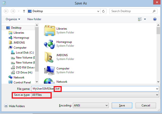 Run SSMS instance as different Windows user