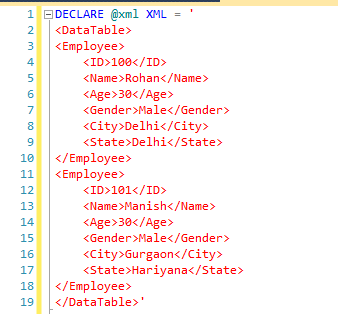 Read XML Data