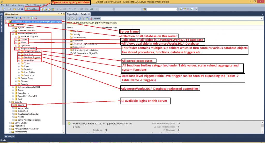 SQL Server Management Studio - SSMS