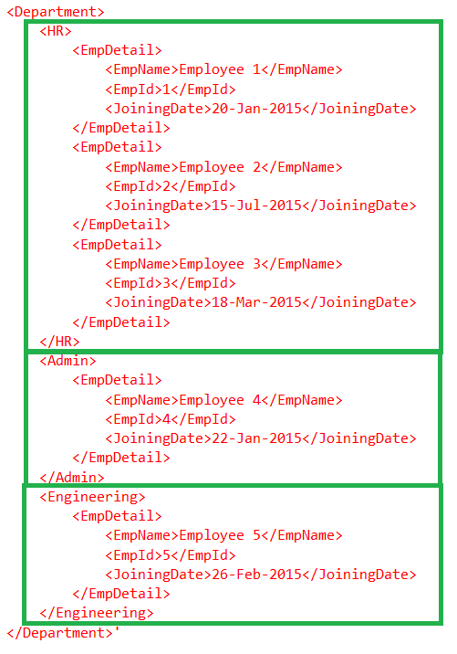 Select all elements regardless of level in XML - SQLRelease