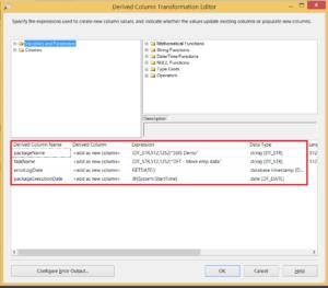Add audit columns using derived column transformation
