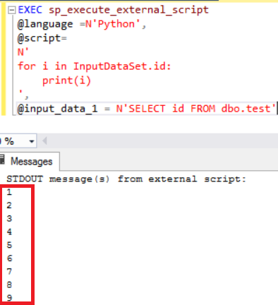 Execute Python in SQL Server