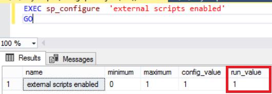 Check external script enabled